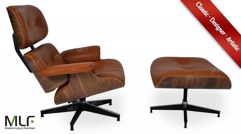 MLFClassic black design leisure eames lounge chair&ottoman