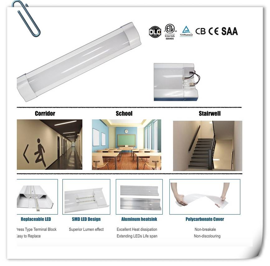 ETL listed 40w 4ft Indoor Linear Lighting Fixture