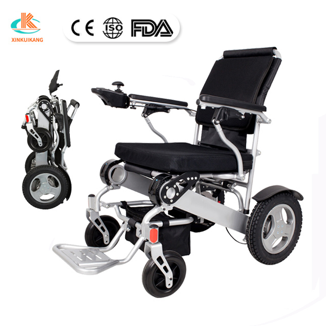 Cheap price lightweight foldable brushless motor electric wheelchair