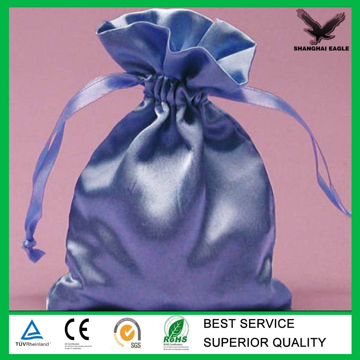 Jewelry satin bags/satin pouches for gifts drawstring bag (directly from factory)