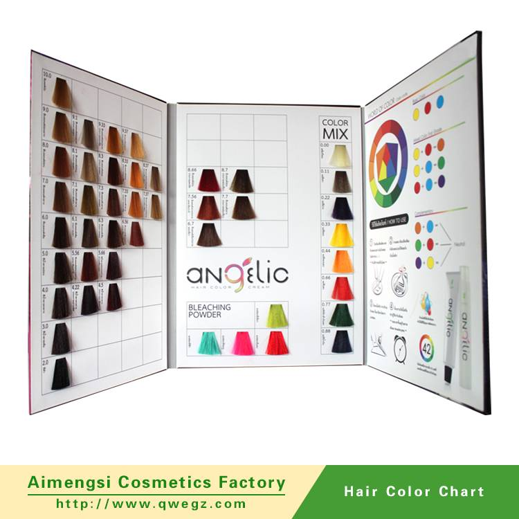 Hair color chart synthetic hair color swatch book