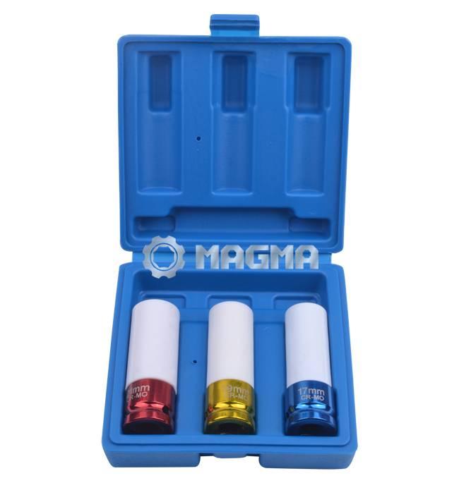 "(MG30002)3 Pc 1/2"" Drive Impact Socket Set"