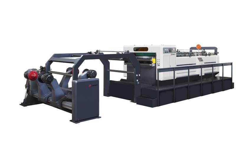Rotary sheeting machine