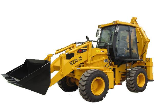 Articulated backhoe loader with cummins engine