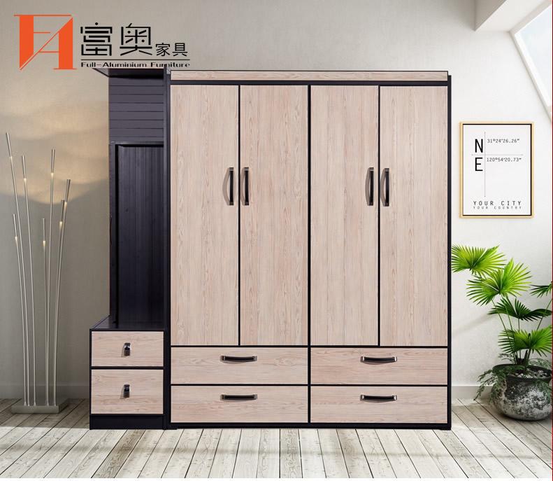 Full Aluminum Bedroom Furniture Combined Wardrobe - FuAo ...