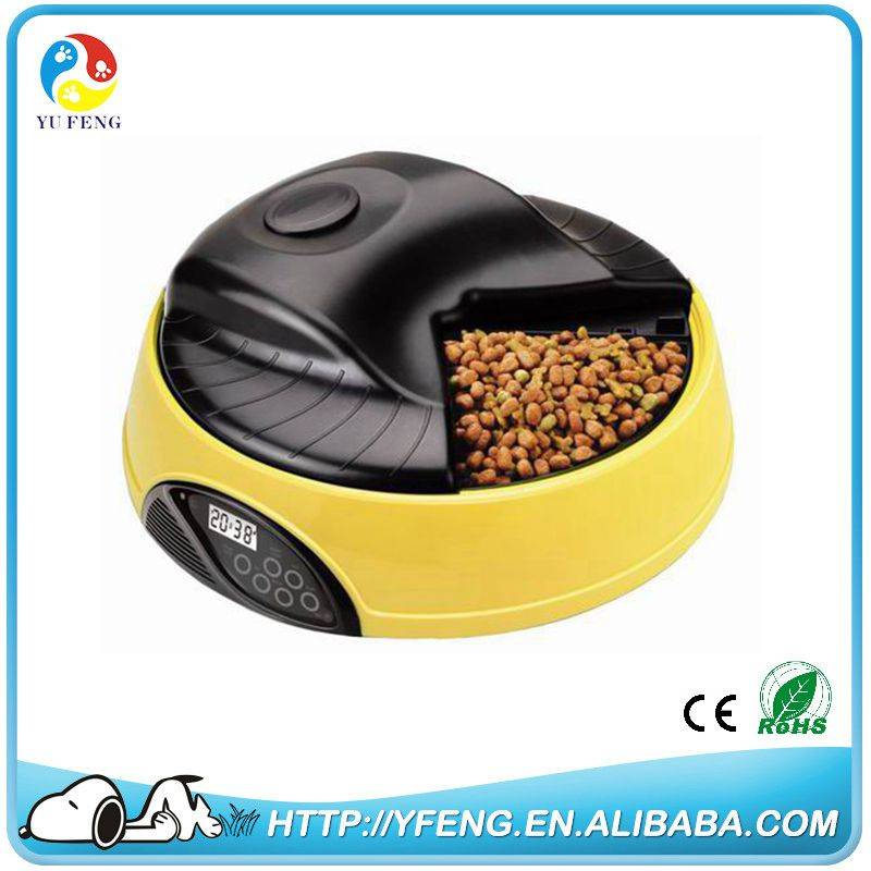 Yufeng Tech 4 Meal LCD Automatic Pet Feeder For Dog and Cat