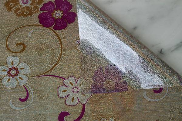 printed fancy style hot selling PVC Laser Table Mat