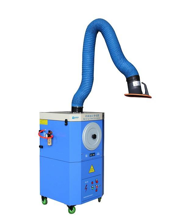Portable mobile welding fume extractor