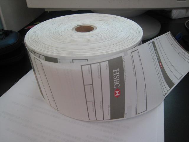 ATM paper,ATM rolls,Bank paper
