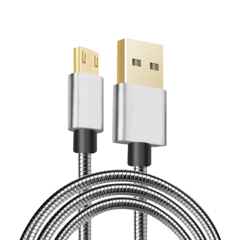 Superior Metal Spring USB Charging Cable Aluminum Alloy Date Syncing Cable