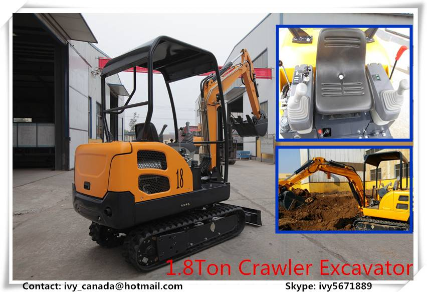 1.8Ton China Excavator With Laidong Engine