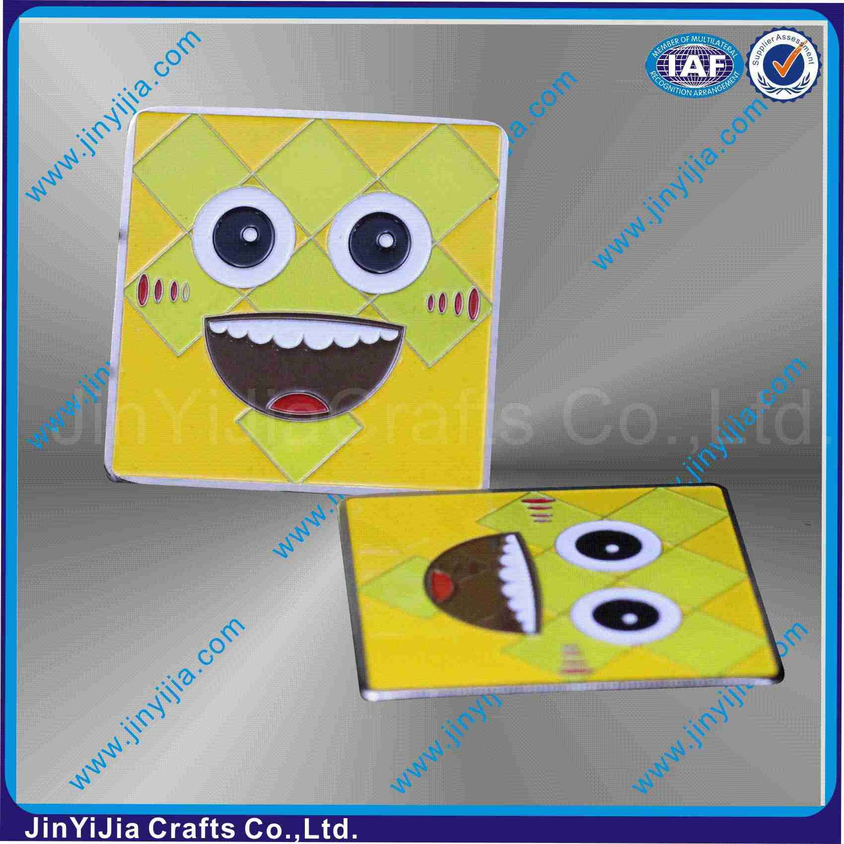 Square SpongeBob Design Carton Badge Pins