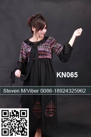 Cheap Beaded Moroccan Kaftan Long Sleeves Elegant Maxi Dresses