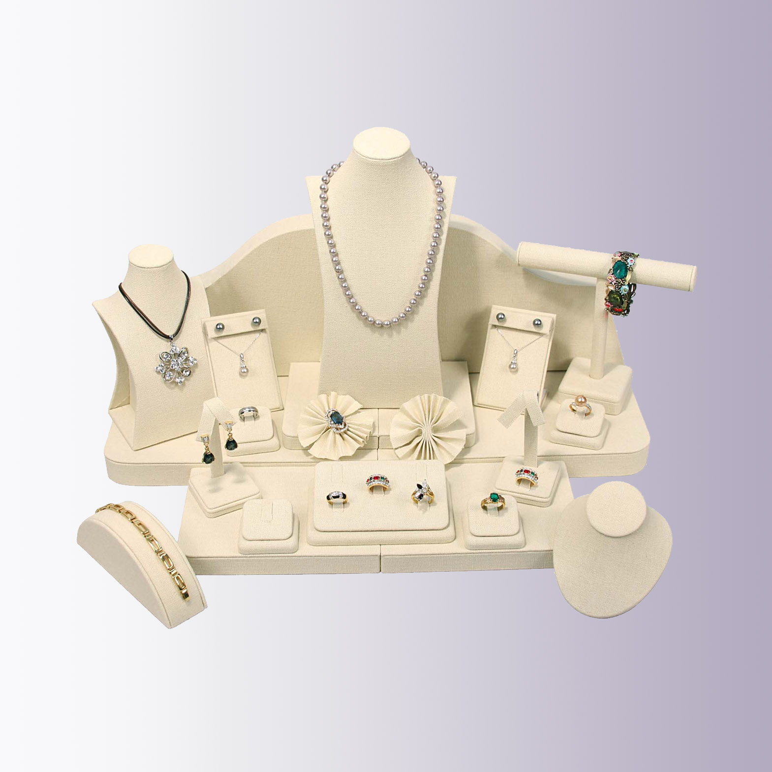 GMT Leatherette Jewelry Display Set