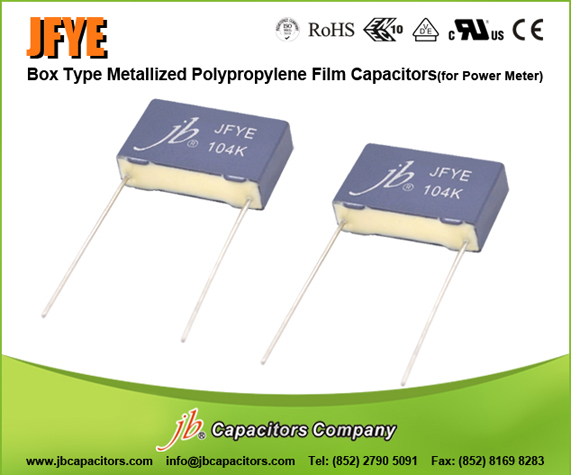 JFYE--Box Type Met Polypropylene Film Capacitor For Power Meter