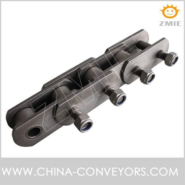Conveyor chain for mine machinery