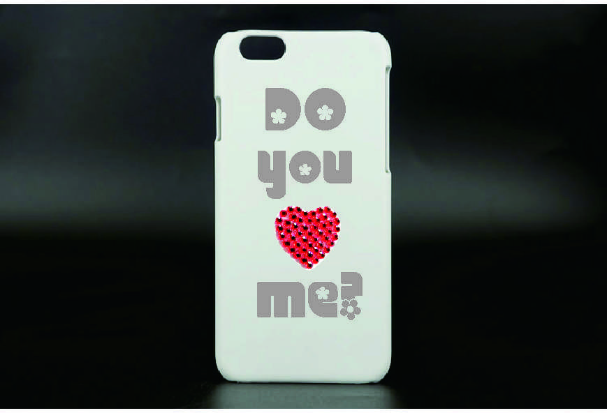 Cell phone sticker - Do you love me