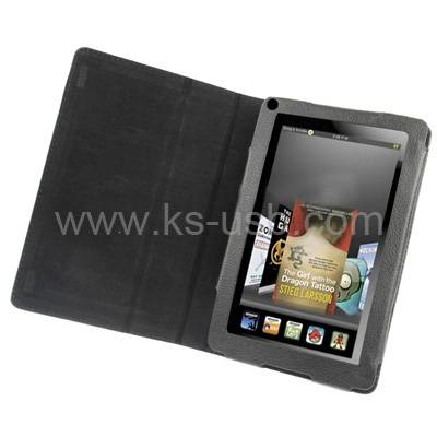Book Style Leather Case for Amazon Kindle Fire (KTPC-0614)