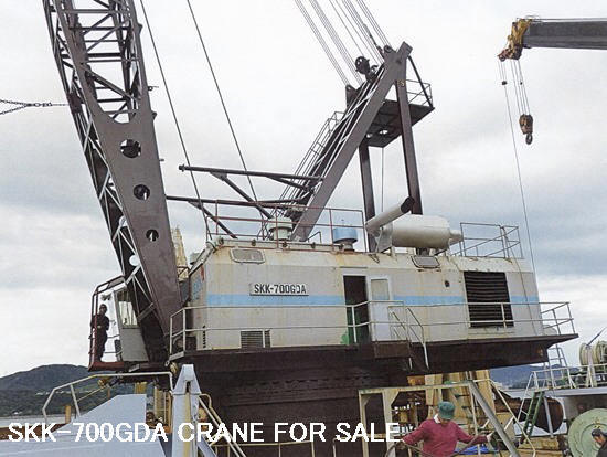 USED SKK-700GDA & OTHER MODELS OF FLOATING CRANE