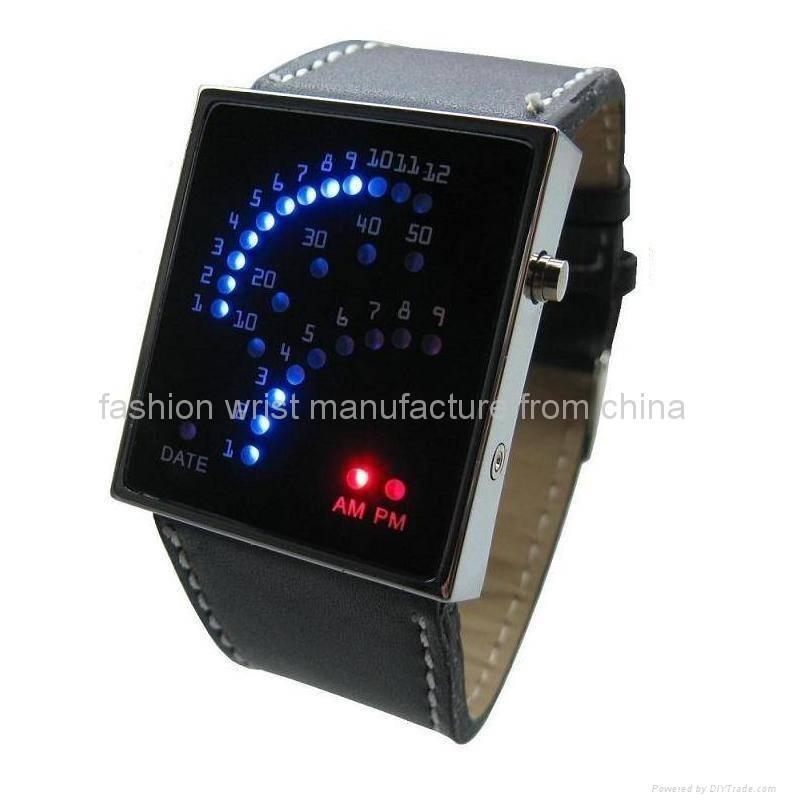 Fan-like Display LED Watch LW-806