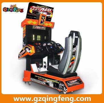 Qingfeng game machine on discount coin operated kids race car game machine