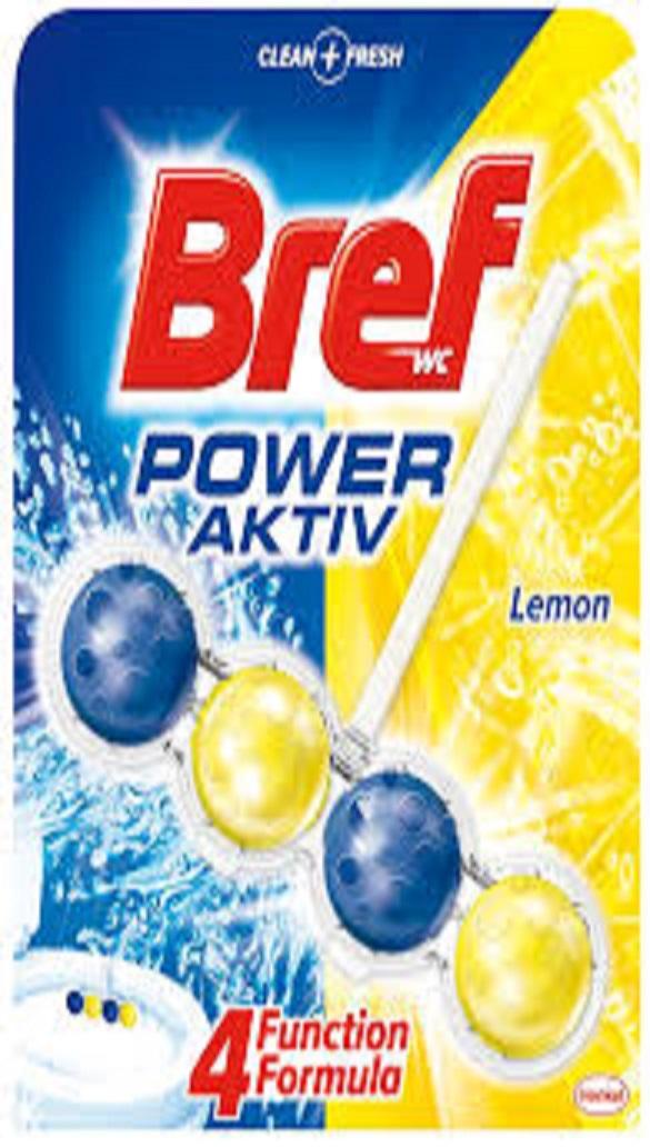 Bref WC Power Aktiv Lemon 2x50g