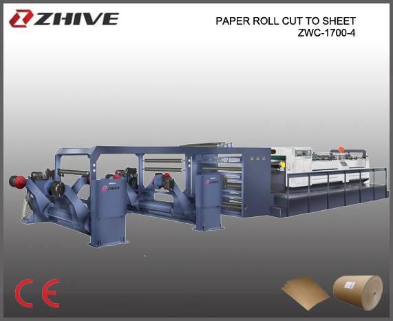 ZWC-1700-4 Servo Precision Hight Speed Sheet Cutter, paper sheet cutting machine paper roll cutting
