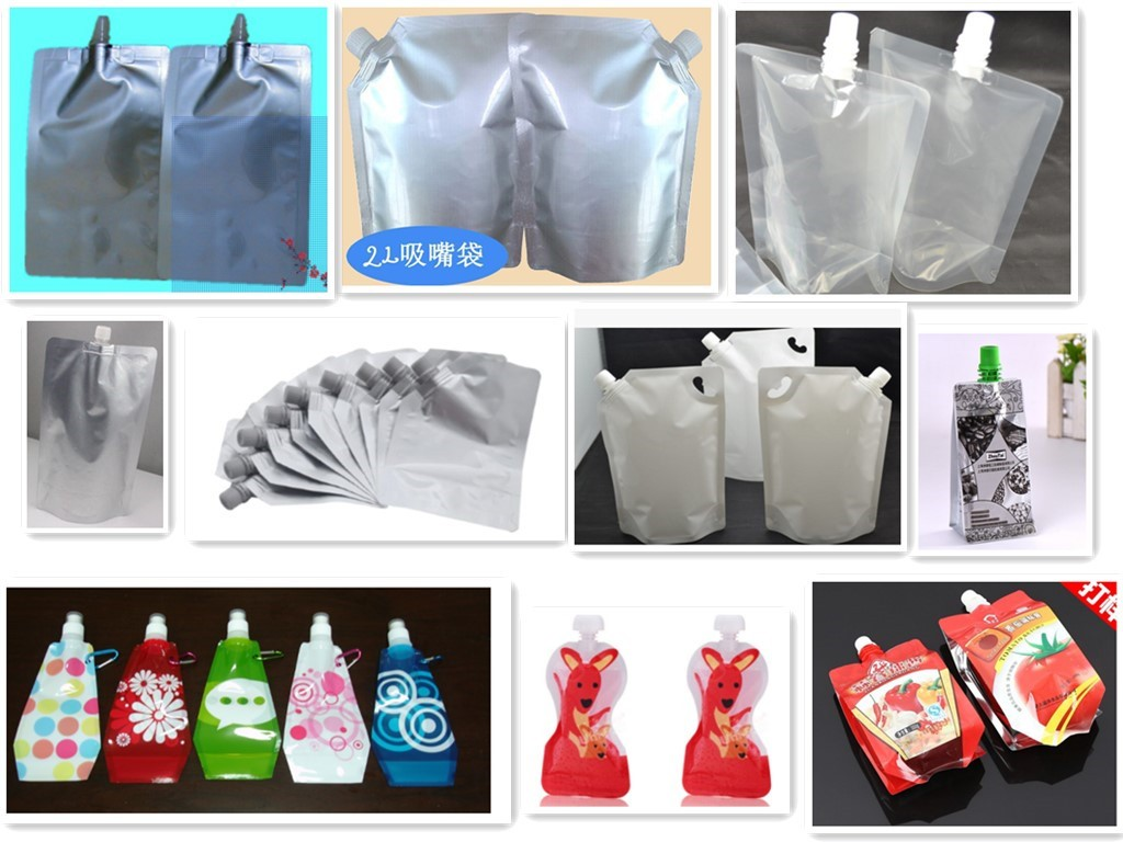 Spouted shaped pouches