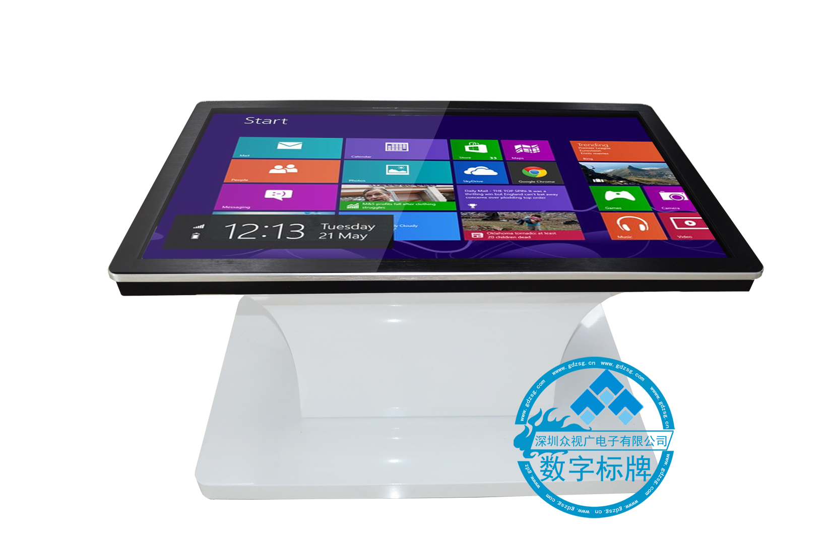 84inch information stand interactive touch screen PC Kiosk