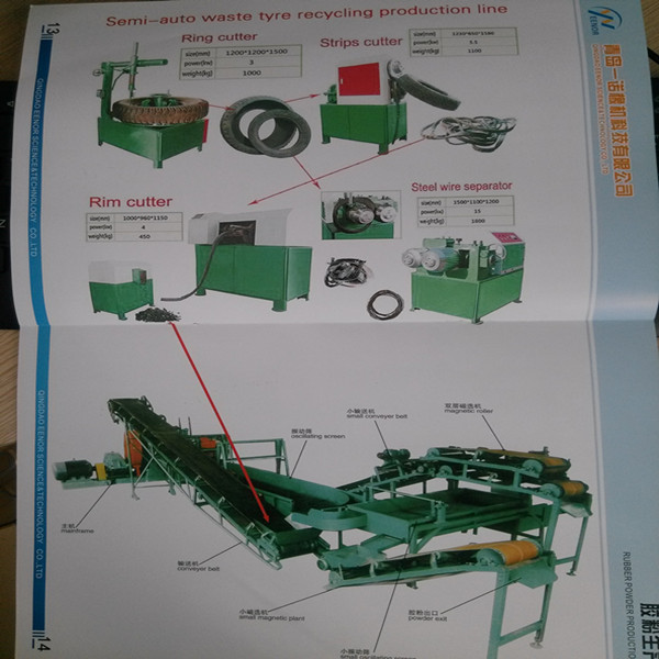 used tire recycling line xk-450