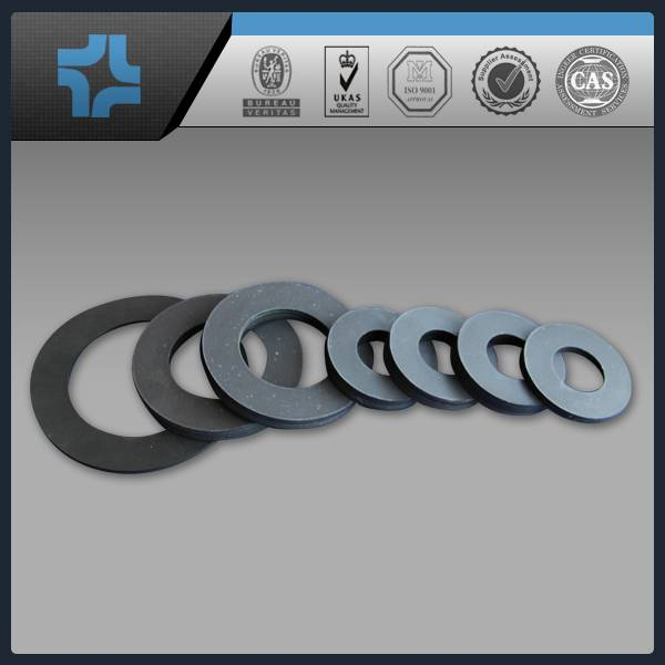 filled with carbon or other materials black PTFE teflon gasket