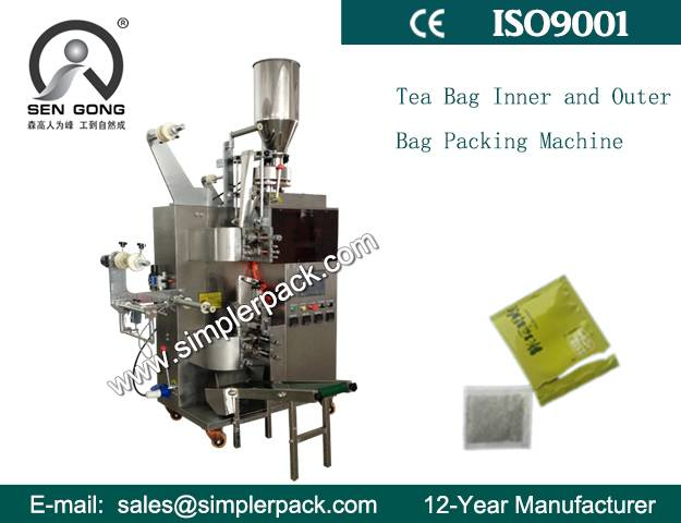 Inner and Outer White Tea Bag Packing Machine