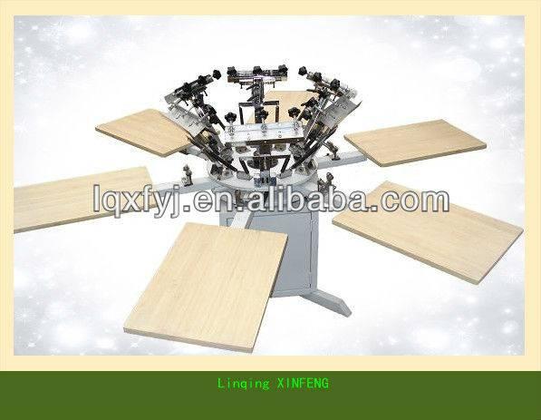 T-shirt printing machine 6 color board printing machine