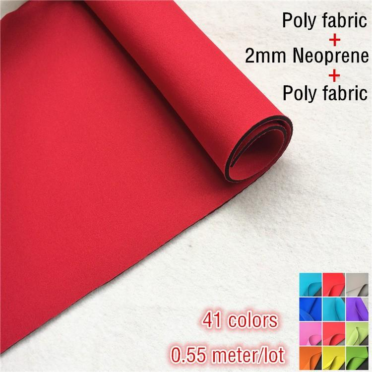 Neoprene fabric both sides coated polyester fabric 2mm rubber T cloth rubber sheet colorful for Spor