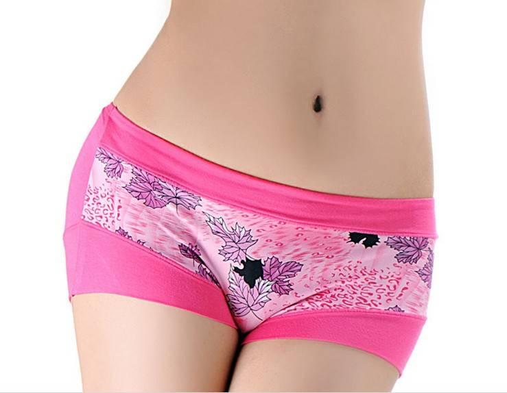 Hipster Flower Prining Modal brief underwear-5092#