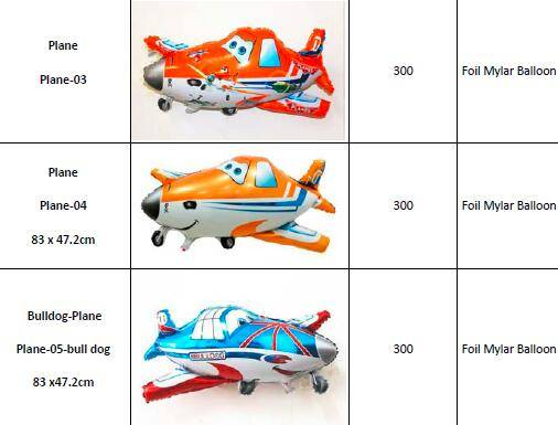 Offer Various Car & Plane & airplane Foil Mylar Balloons