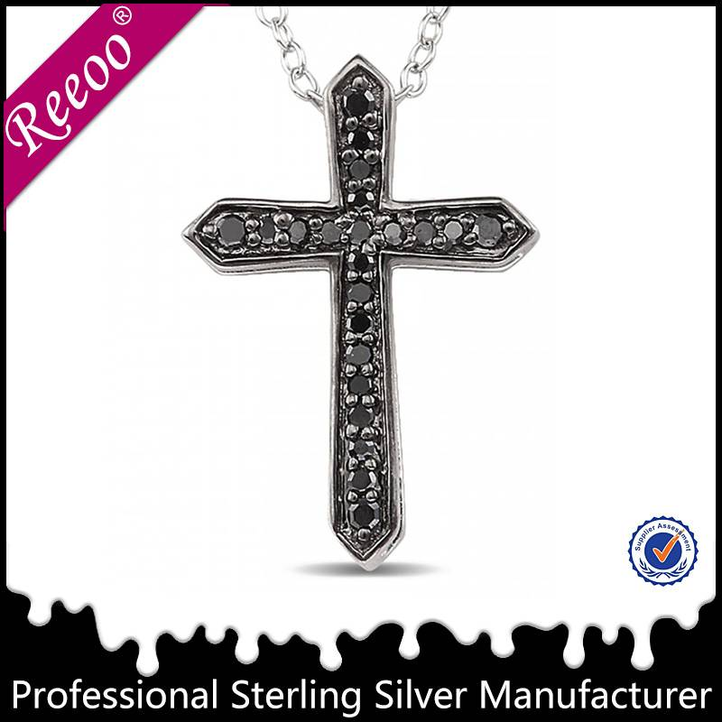 925 sterling silver cross pendant Christian jewelry