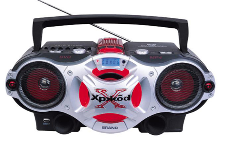 Multi-function CD Boombox with cassette player