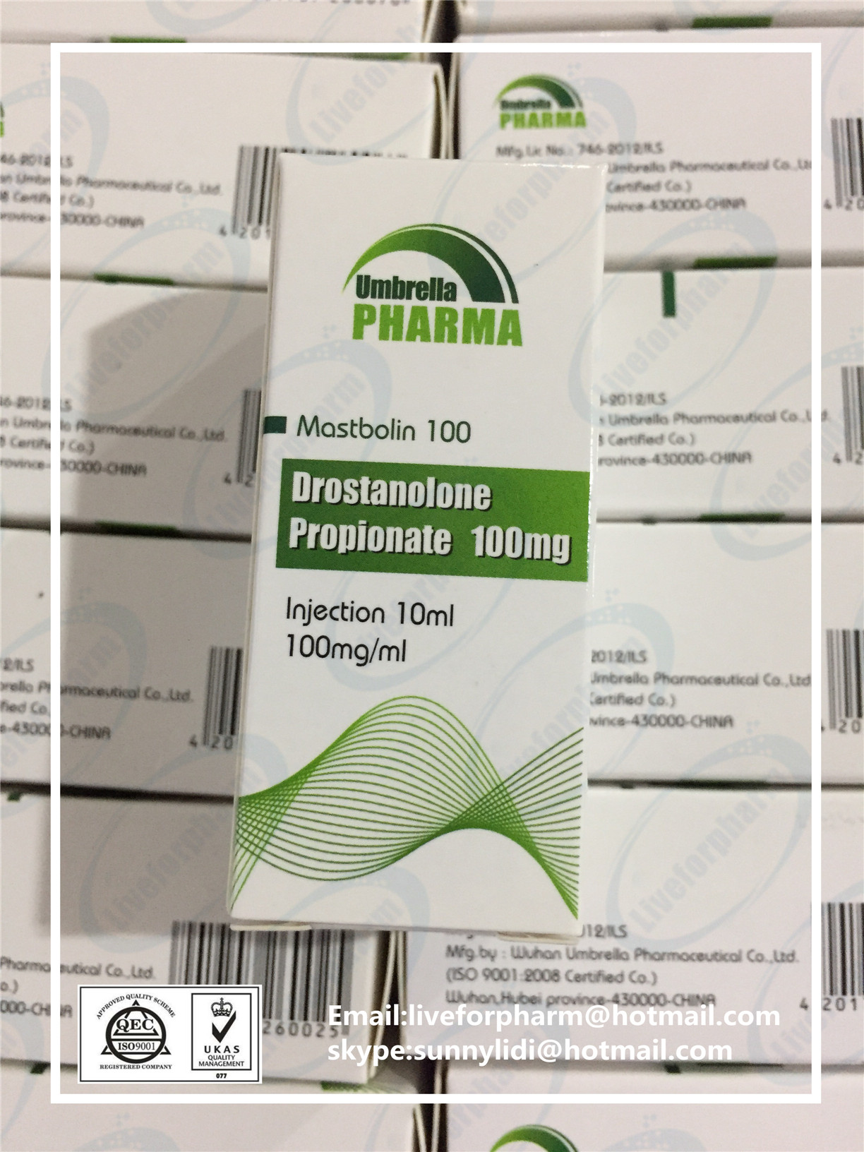 Mastbolin 100 Drostanolone Propionate 100mg/ml 10ml/vial cheaper price 98.8% purity above