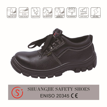 safety shoes work boots 8057 split leather pu outsole