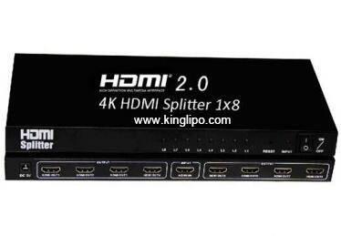 HDMI2.0 Splitter 1x8,support 3D 4K*2K 60P