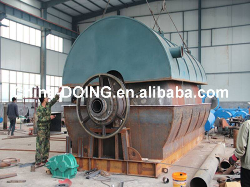 China supplier of waste tire pyrolysis plant