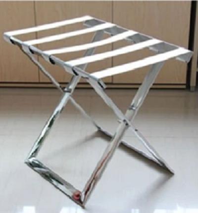 stainless steel hotel luggage rack/folding Strong metal Baggage Carrier/metal luggage rack for home