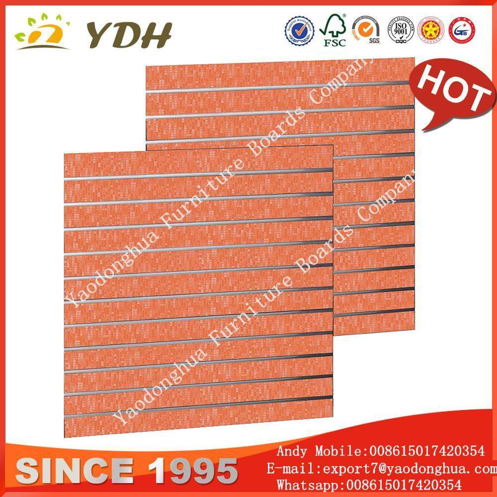 Factory price wood slats wall, shop slatwall suppliers