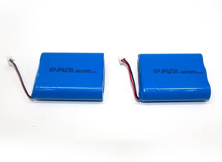 Lipo 18650 3S 11.1V 2200mAh Cylindrical Lithium-ion Battery Pack