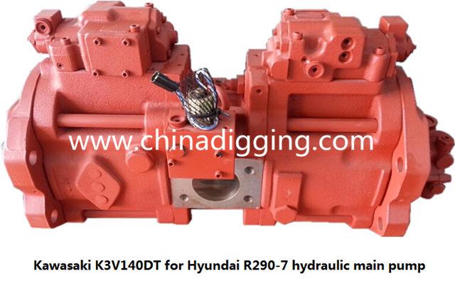 Kawasaki K3V140DT excavator hydraulic pump main pump assy