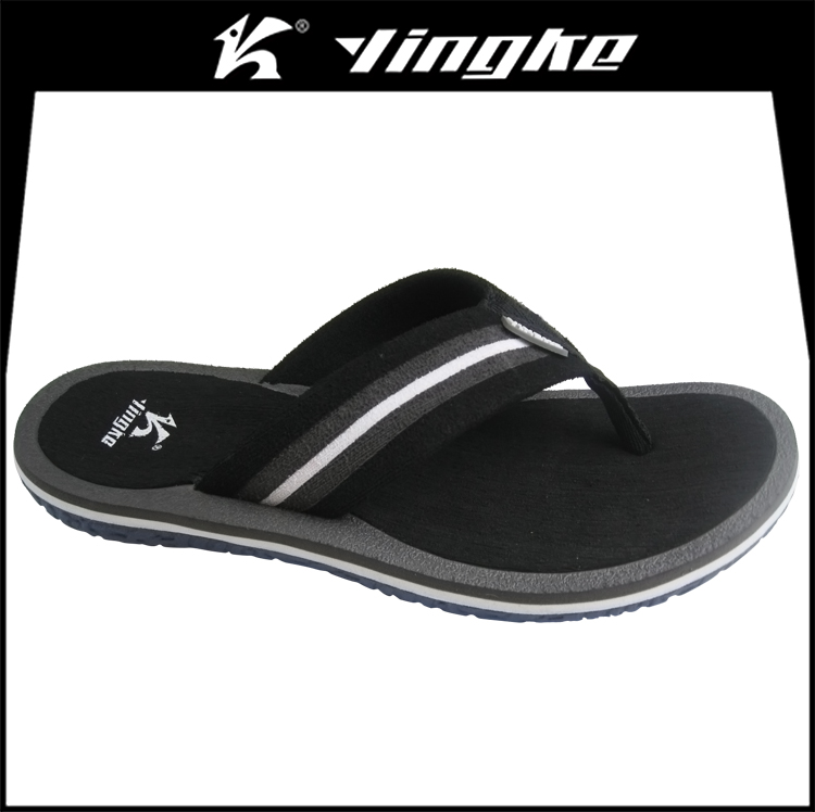 2017 cheap wholesale customized black color men eva flipflops beach