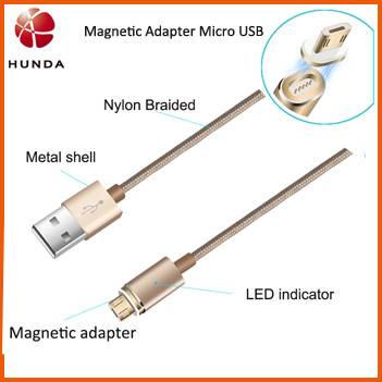 Detachable Magnet DC Tips Magnetic USB Cable for Car Charger