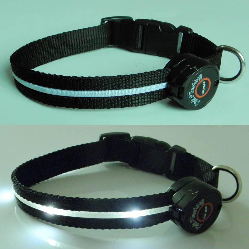 2012 LED safety adjustable  dog collar
