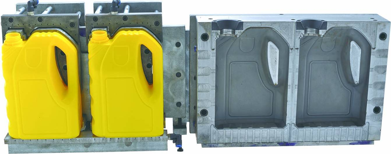 extrusion bottle mould for gasoline engine oil